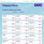 Virgin Australia Domestic O/W Happy Hour: Bris to Syd $95, Mel to Syd $95, Bris to Mel $135, Per to Cbr $199 and More