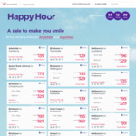 Virgin Australia Happy Hour: Eg Syd <> Bris $99, Chch $329 Return, Mel <> Syd $99, Auckland $329 Return @ Virgin Australia