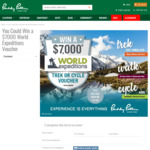 Win a $7,000 World Expeditions Voucher from Paddy Pallin