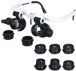 Head Magnifier Glasses with 2 LED Lights with 4 Lenses 7X/10X/15X/25X US $5.69 / AU $8.48 Delivered @ Tomtop
