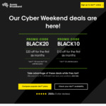 Aussie Broadband Black Friday Deals: nbn Unlimited Plan 100 Mb/s $79/m, 50 Mb/s $59/m, 25 Mb/s $59/m for First 6 Months
