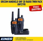 Oricom 2W UHF CB Radio Twin Pack UHF2190 $99 Delivered @ Outdoor Supacentre via Amazon AU & 4WD Supacentre