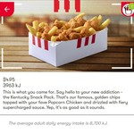 Kentucky Snack Pack $4.95 Secret Menu via App @ KFC
