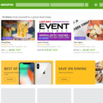 Groupon: 20% Cashback via ShopBack App (Stack with Groupon up to 30% off Sitewide)