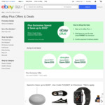 [eBay Plus] $10 off $100 Spend | $50 off $500 Spend | $100 of $1000 Spend (Eligible Items) @ eBay