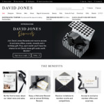 Free: $10 Welcome Reward + Yearly $10 Birthday Reward @ David Jones Rewards