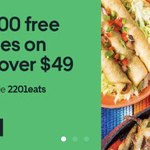 100 Free Deliveries on Orders over $49 @ UberEATS