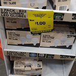 [NSW] 3 Pack 800 Lumen LED Globe $1 @ Bunnings Wallsend