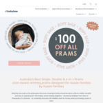 $100 off All Babybee Prams End of Financial Year Sale