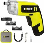 CACOOP Electric Cordless Screwdriver Set CSD04002 $30.99 + Delivery ($0 with Prime/ $39 Spend) @ Cacoop via Amazon AU