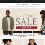60% off Sitewide (Excludes Essentials Range & Barfly Fragrance) @ Scotch & Soda