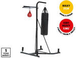 Boxing Tower & Bag $199, Spin Bike $199, Adult's Premium Runners $30, Blood Pressure Monitor $35, Track Pants $12.99 @ ALDI