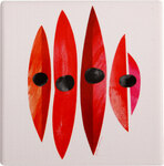2 Pete Cromer Trivet - Sturts Desert Pea $10 Delivered (Was $20) @ Australia Post