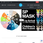 Reusable Face Mask from $14.95 + $7 Delivery (Free Delivery over $49) @ Sparms