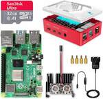 Raspberry Pi 4 B Model B Starter Kit 8GB RAM 32GB SD Card US$96 (~A$132.10) Delivered @ Labists