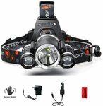 AUSELECT 3 LED Sensor Headlamp with Charging Kit $21.99, All Flashlights Sale from $7.99 + Ship ($0 W Prime/ $39+) @ Amazon AU
