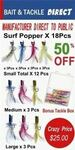 Surf Fishing Lures $12.50 ($22.50 RRP) + Shipping (Free with eBay Plus) @ Tackle Direct AU eBay