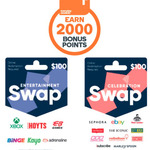 2000 Points (Worth $10) with $100 Swap Celebration / Entertainment Card (Redeemable on eBay / EB Games + Others) @ Woolworths