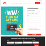 Win 1 of 14 $50 Gift Cards from IGA