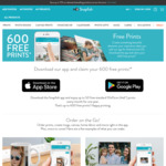 50 Free Photo Prints Per Month for 12 Months ($4.95 Delivery) via Snapfish App