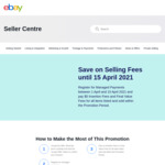 Register for Managed Payments 1-15 April & Pay $0 Insertion Fees and Final Value Fees @ eBay