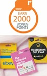2000 Points (Worth $10) on $100 eBay, Ultimate Her/Style, Good Food, The Beauty Spa and Event Cinema Gift Cards @ Woolworths