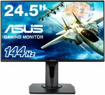 ASUS 24.5 Inch Full HD Gaming Monitor, 1ms, 144hz, G-SYNC Compatible $206.27 Delivered @ Amazon AU
