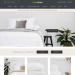 20% off Sitewide (e.g. Bath Sheets $19.96) + Delivery @ Main Linen