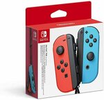 Nintendo Switch Joy-Con Controller Pair (Neon Red/Blue) $89 Delivered @ Amazon AU