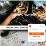 [QLD, VIC] $10 Credit with Coupon Code @ Payo App (Buy Now, Pay Later Dining)