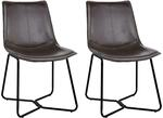 Artiss Set of 2 PU Leather Dining Chairs - Walnut $149.99 + Delivery ($0 to Metros) & More @ Bargains Bay