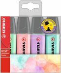 Stabilo Boss Pastel Highlighters 4 Pack - $5.00 + Shipping (Free with Prime / $39 Spend) @ Amazon AU