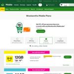 100% Cashback (via Cashrewards or ShopBack) on All Woolworths Mobile 30-Day Prepaid Starter Packs @ Woolworths Mobile Online