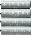 LADDA Rechargeable Battery AA or AAA 4pk $7 + Delivery or $5 C&C @ IKEA