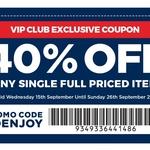 40% off Any Single Full Priced Item (No Minimum Spend) @ Spotlight (VIP Members Only)