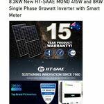 [QLD] 8.3kW HT-SAAE (415W*20 Panels) + Growatt 8kW Inverter Fully Installed $4989 (BRIS) @ Reliance Solar