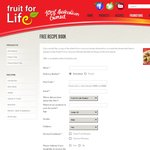 Free Dried Fruit or Coconut Recipe Booklet