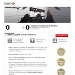 HSBC VISA Credit Card - No Annual Fee for Life - 0% Balance Transfers for 8 Months