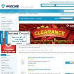 Stock Clearance at Warcom - Online Only - Ends Midnight Sunday 07/07/13