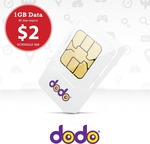 1GB Dodo Sim for $2 Delivered from NoWorries