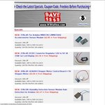 ULN2003 Stepper Motor Control $3.06, Wireless Remote Control $3.48, MMA7361 Sensor Module $2.85
