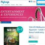Flybuys VIC - Melb Aquarium 2x Adult Ticket for 5600 Points / $28