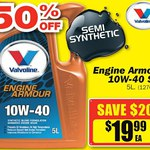 Repco Sale. 50% off Valvoline Engine Armour Oil. 10W40 5 Ltr $19.99 (Save $20) and more