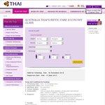 MEL-DEL $650 Return Thai Airways Travel Jan-Mar- Price Error