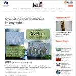 50% OFF Custom 3D Printed Photographs @ Kad3D