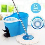 360 Degree Spin Mop & Spin Dry Bucket with 2 Mop Heads $69.96 + Shipping @ CrazySales