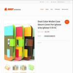 Dual Color Wallet Case for iPhone for $2.99 and 4x Brush Heads for $1.19 + $1 Shipping @ Bmart