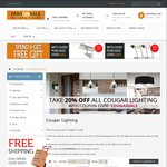20% off All Cougar Lighting, Including Already Reduced Items @ Fans on Sale