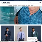 30% off M.J Bale Suits, Shirts, Ties, Accessories