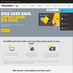 Commonwealth Bank Low Rate Credit Card - $150 Cashback ($500 Spend, $59 Annual Fee, $91 Profit)